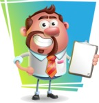 Businessman with Goatee Cartoon 3D Vector Character AKA Jordan - Shape 11
