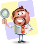 Businessman with Goatee Cartoon 3D Vector Character AKA Jordan - Shape 12