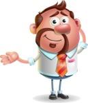 Businessman with Goatee Cartoon 3D Vector Character AKA Jordan - Sorry