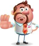 Businessman with Goatee Cartoon 3D Vector Character AKA Jordan - Stop 2