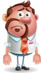 Businessman with Goatee Cartoon 3D Vector Character AKA Jordan - Sad