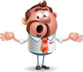 Businessman with Goatee Cartoon 3D Vector Character AKA Jordan - Lost