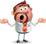 Businessman with Goatee Cartoon 3D Vector Character AKA Jordan - Confused
