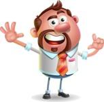 Businessman with Goatee Cartoon 3D Vector Character AKA Jordan - Hello