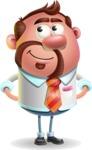 Businessman with Goatee Cartoon 3D Vector Character AKA Jordan - Patient