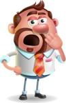 Businessman with Goatee Cartoon 3D Vector Character AKA Jordan - Bored