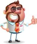Businessman with Goatee Cartoon 3D Vector Character AKA Jordan - Sunglasses