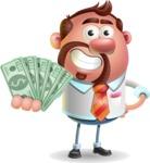 Businessman with Goatee Cartoon 3D Vector Character AKA Jordan - Show me  the Money