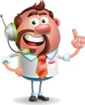 Businessman with Goatee Cartoon 3D Vector Character AKA Jordan - Support 2