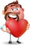 Businessman with Goatee Cartoon 3D Vector Character AKA Jordan - Love
