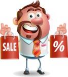 Businessman with Goatee Cartoon 3D Vector Character AKA Jordan - Sale 2