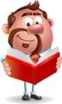 Businessman with Goatee Cartoon 3D Vector Character AKA Jordan - Book 1