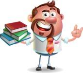 Businessman with Goatee Cartoon 3D Vector Character AKA Jordan - Book 2