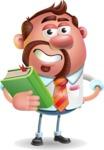 Businessman with Goatee Cartoon 3D Vector Character AKA Jordan - Book 3