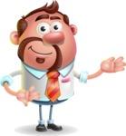 Businessman with Goatee Cartoon 3D Vector Character AKA Jordan - Showcase