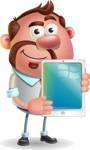 Businessman with Goatee Cartoon 3D Vector Character AKA Jordan - iPad 1