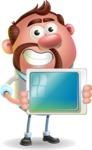 Businessman with Goatee Cartoon 3D Vector Character AKA Jordan - iPad 2