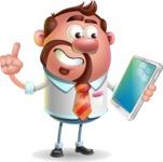 Businessman with Goatee Cartoon 3D Vector Character AKA Jordan - iPad 3