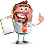 Businessman with Goatee Cartoon 3D Vector Character AKA Jordan - Notepad 1