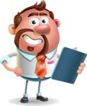 Businessman with Goatee Cartoon 3D Vector Character AKA Jordan - Notepad 2