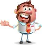 Businessman with Goatee Cartoon 3D Vector Character AKA Jordan - Showcase 2
