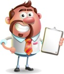 Businessman with Goatee Cartoon 3D Vector Character AKA Jordan - Notepad 4