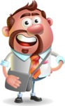 Businessman with Goatee Cartoon 3D Vector Character AKA Jordan - Travel 2