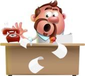 Businessman with Goatee Cartoon 3D Vector Character AKA Jordan - Office fever