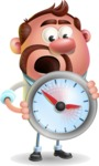 Businessman with Goatee Cartoon 3D Vector Character AKA Jordan - Time is Yours