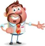 Businessman with Goatee Cartoon 3D Vector Character AKA Jordan - Show