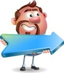 Businessman with Goatee Cartoon 3D Vector Character AKA Jordan - Pointer 2