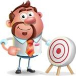 Businessman with Goatee Cartoon 3D Vector Character AKA Jordan - Target
