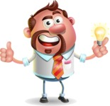 Businessman with Goatee Cartoon 3D Vector Character AKA Jordan - Idea 1