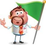 Businessman with Goatee Cartoon 3D Vector Character AKA Jordan - Checkpoint