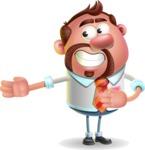 Businessman with Goatee Cartoon 3D Vector Character AKA Jordan - Show 2