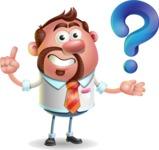 Businessman with Goatee Cartoon 3D Vector Character AKA Jordan - Question