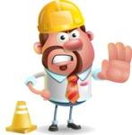 Businessman with Goatee Cartoon 3D Vector Character AKA Jordan - Under Construction 1