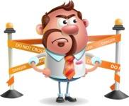 Businessman with Goatee Cartoon 3D Vector Character AKA Jordan - Under Construction 2