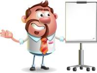 Businessman with Goatee Cartoon 3D Vector Character AKA Jordan - Presentation 1