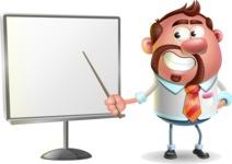 Businessman with Goatee Cartoon 3D Vector Character AKA Jordan - Presentation 2