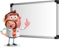 Businessman with Goatee Cartoon 3D Vector Character AKA Jordan - Presentation 3