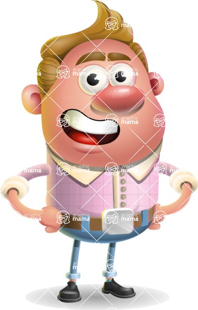 Vector Clay Business Man Cartoon Character Design AKA Theodore Quirk - Normal