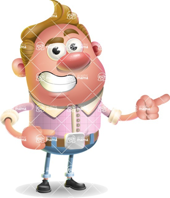 Vector Clay Business Man Cartoon Character Design AKA Theodore Quirk - Point 2