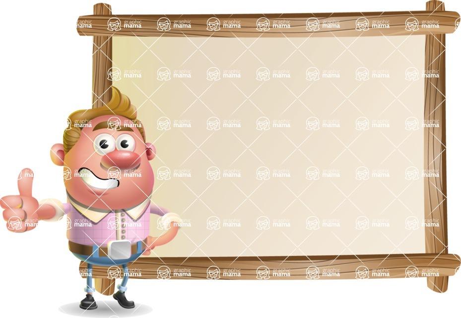 Vector Clay Business Man Cartoon Character Design AKA Theodore Quirk - Presentation 5