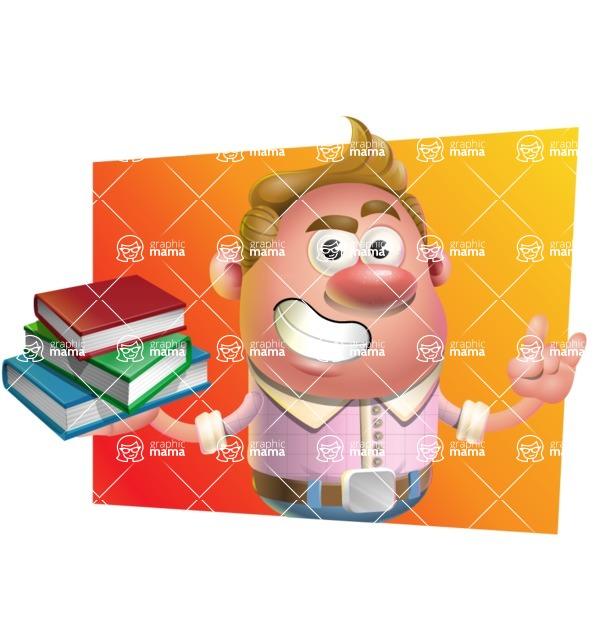 Vector Clay Business Man Cartoon Character Design AKA Theodore Quirk - Shape 3
