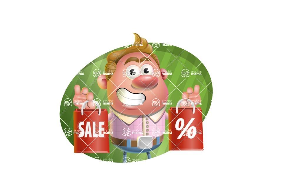 Vector Clay Business Man Cartoon Character Design AKA Theodore Quirk - Shape 4