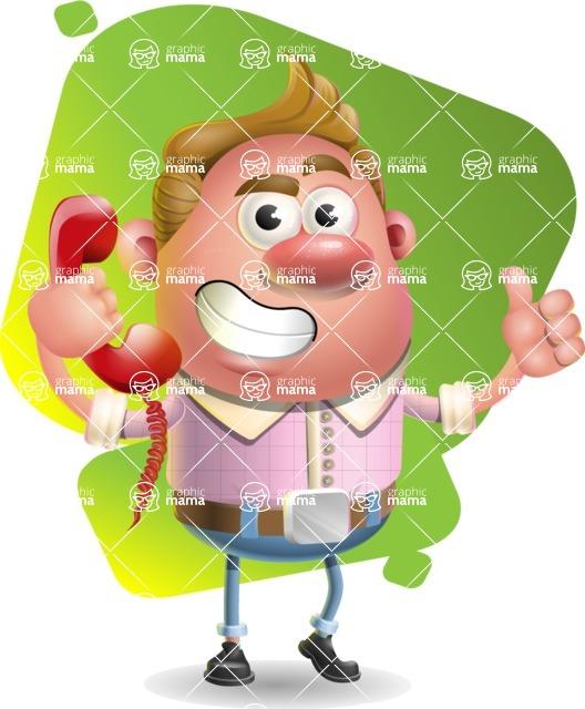 Vector Clay Business Man Cartoon Character Design AKA Theodore Quirk - Shape 7