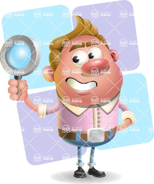 Vector Clay Business Man Cartoon Character Design AKA Theodore Quirk - Shape 12