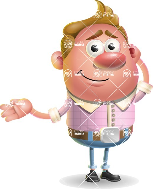 Vector Clay Business Man Cartoon Character Design AKA Theodore Quirk - Sorry