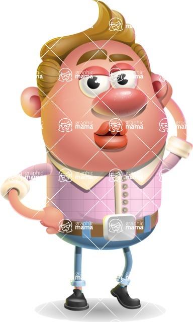Vector Clay Business Man Cartoon Character Design AKA Theodore Quirk - Duckface